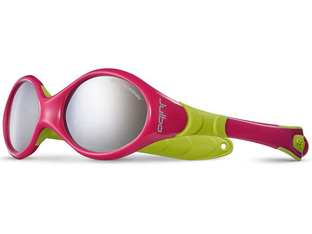 Julbo Looping I Spectron 4 Sunglasses 0-18M Kinder fuchsia/lime green-gray flash silver